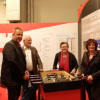 Werkstaettenmesse 2016: die SPD-Bezirkstagsfraktion am Stand des Bezirks Mittelfranken