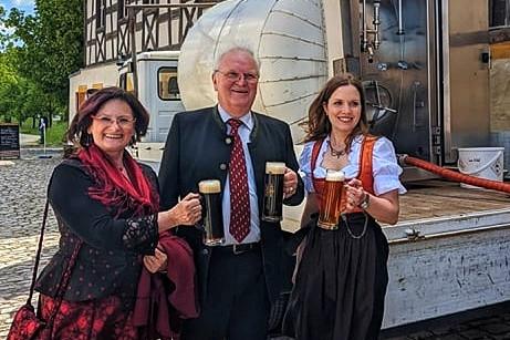 Christa Naaß mit Willi Döbler & Katharina Döbler-Saule