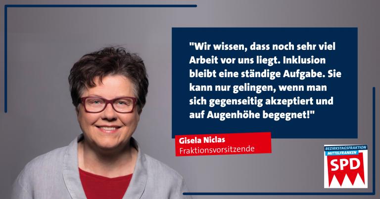 Inklusionsstatement von Gisela Niclas zum 05. Mai 2021